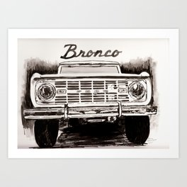 Front End Ford Bronco Art Print