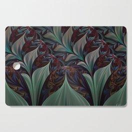 Dark Floral Cutting Board