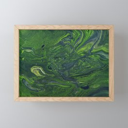 Swirling Jade Framed Mini Art Print