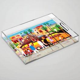 Palm Desert Acrylic Tray