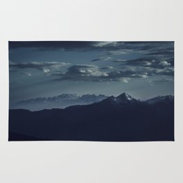 Lonely peak of the mountains Rug