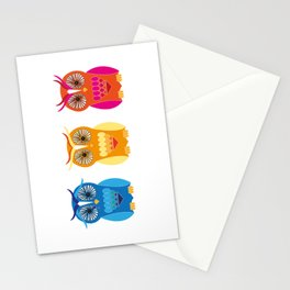 Sad, Happy, Angry Stationery Cards