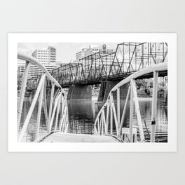 View From a Wobbly Bridge Art Print