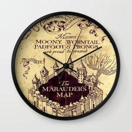 yellow map Wall Clock