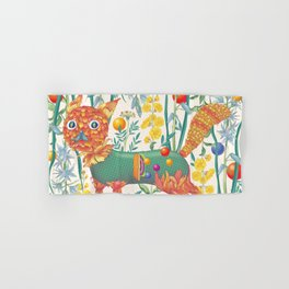 Flower cat Hand & Bath Towel