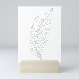 Minimal Palm Leaf Mini Art Print