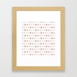 Pastel Flowers Pattern Framed Art Print