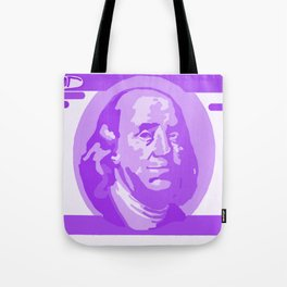 BIG PURPLE 100 DOLLAR BILL BEN FRANKLIN $$$ Tote Bag