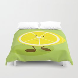 Half lemon character Duvet Cover