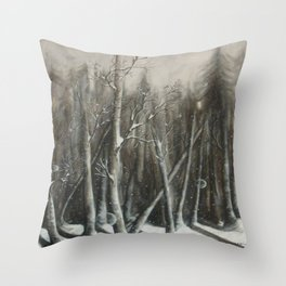 Winter Bubbles ~ Original Art Throw Pillow