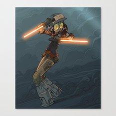 LaserGirl Canvas Print