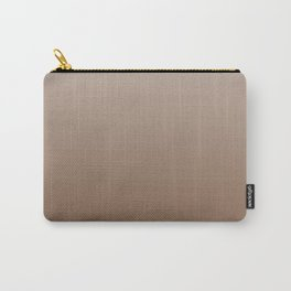 Pastel Brown to Brown Horizontal Linear Gradient Carry-All Pouch