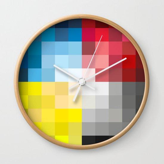 CMYK Pixel Wall Clock