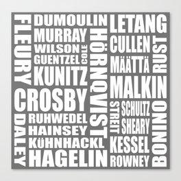 penguins 16-17 roster Canvas Print