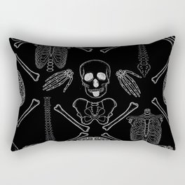 band of skulls - negative Rectangular Pillow