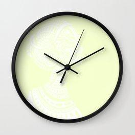 Yellow White Regal Black Woman Wall Clock