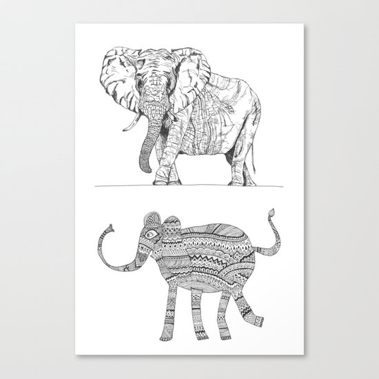 two ways to see one elephant Canvas Print