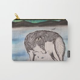 """Northern Lights & """"I Wolves You"""" Nights Carry-All Pouch"""