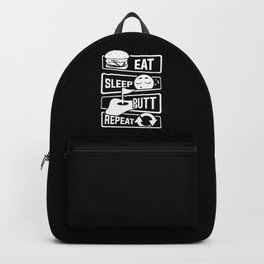 Eat Sleep Putt Repeat - Golf Ball Course Fairway Backpack