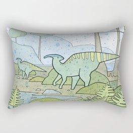 Duck-billed Dinosaur, Parasaurolophus Rectangular Pillow