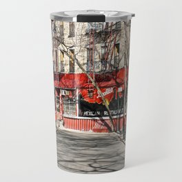 Greenwich Village street in winter Travel Mug