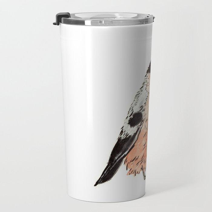 Orange and Black Bird Travel Mug