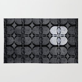 Pattern Eight Black and White Rug