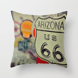 Route 66. Throw Pillow