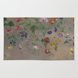 Studies of Flowers by Jacques-Laurent Agasse, 1848 Rug