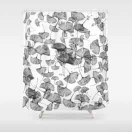 ginko biloba pattern Shower Curtain