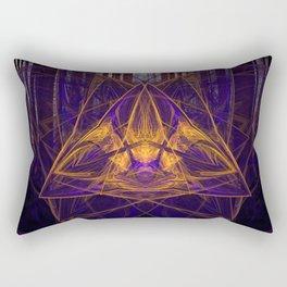 Fire Glow Raccoon Rectangular Pillow