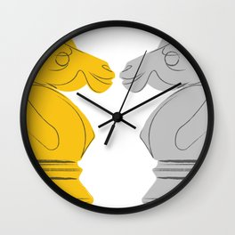 Gold and Silver Knights Wall Clock