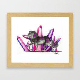 Amethyst Wolf Framed Art Print