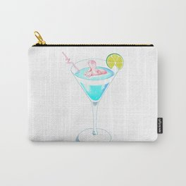 Hippo In Cocktail Carry-All Pouch