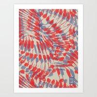 iggy Art Prints featuring Iggy Palms by Gukuuki Studio