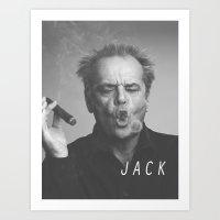 jack nicholson Art Prints featuring Jack / Nicholson by Earl of Grey