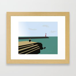 Island Fishing Framed Art Print