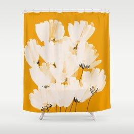 Flowers In Tangerine Shower Curtain