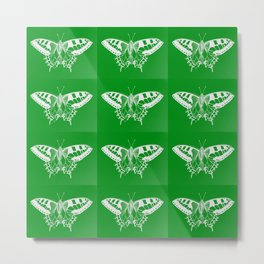 green butterflies Metal Print
