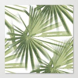 Tropical Beach Palm Vector Canvas Print