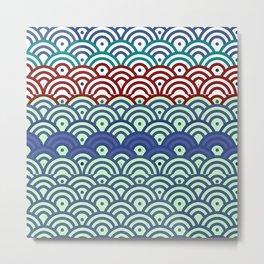 Art Deco Seigaiha 2 Metal Print