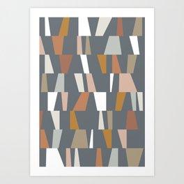 Neutral Geometric 02 Art Print