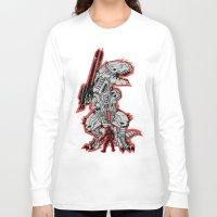 metal gear Long Sleeve T-shirts featuring Metal Gear T.REX by MeleeNinja