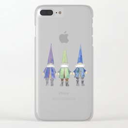Three funny gnomes Clear iPhone Case
