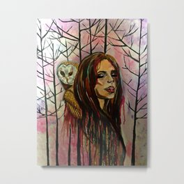 Whispers of The Owl Metal Print