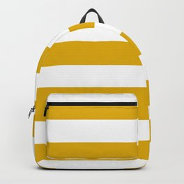 Mustard yellow - solid color - white stripes pattern Backpack