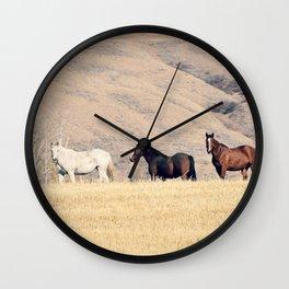 High Desert Horses Wall Clock