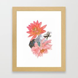 Gazelle and Flowers Framed Art Print