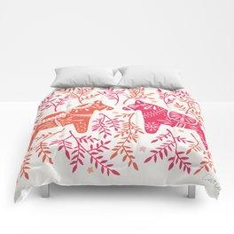 Swedish Dala Horses – Melon Palette Comforters