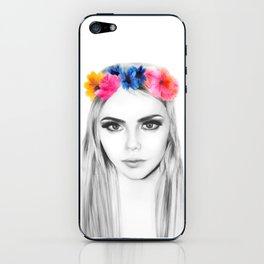 cara's flowers iPhone Skin
